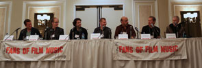 Fans of Film Music Seminar: Nathan Barr, Jeff Beal, Cliff Edelman, Reinhold Heil, Harry Manfredini, Cliff Martinez, Mark McKenzie